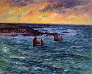 Evening Audierne 1906 | Henri Moret | oil painting