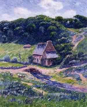 Farm at Doelan | Henri Moret | oil painting