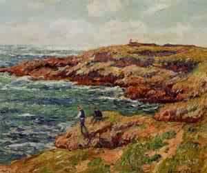 Fishermen on the Breton Coast 1909 | Henri Moret | oil painting