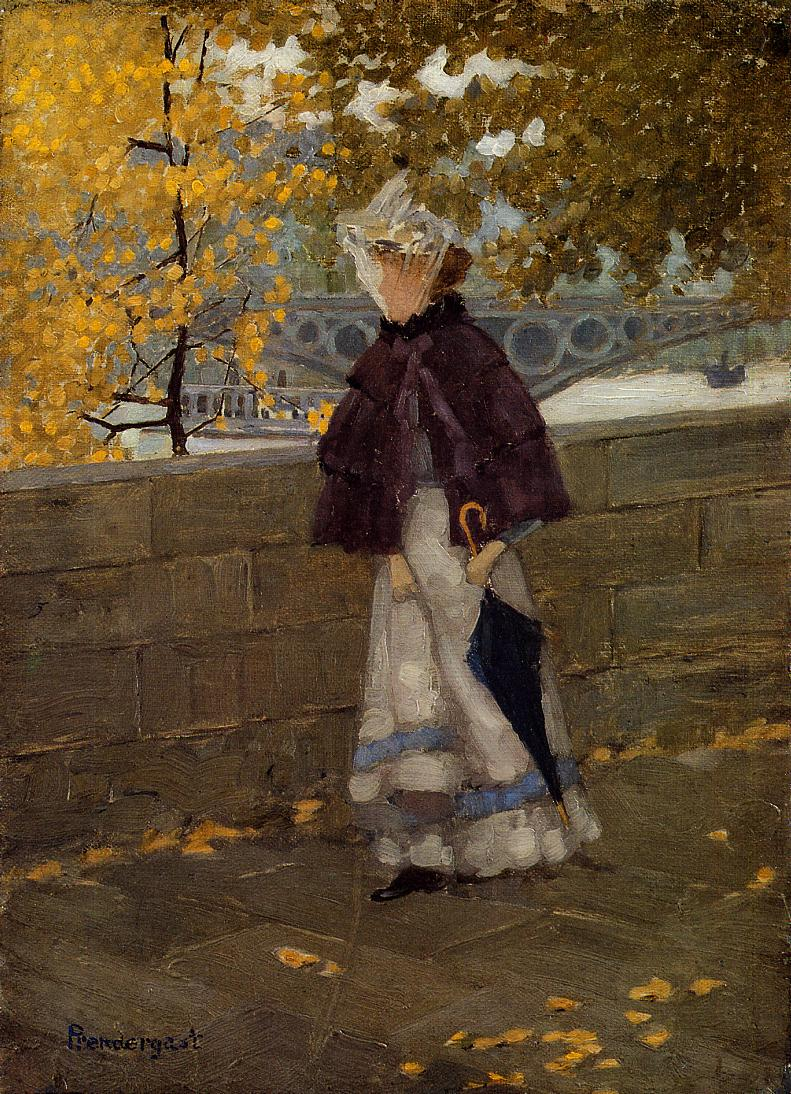 Along the Seine 1892-1894 | Maurice Predergast | oil painting