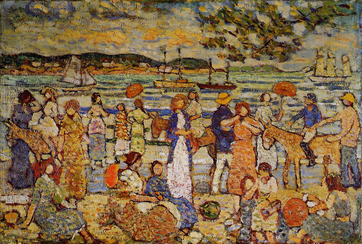 Along the Shore 1914-1915 | Maurice Predergast | oil painting