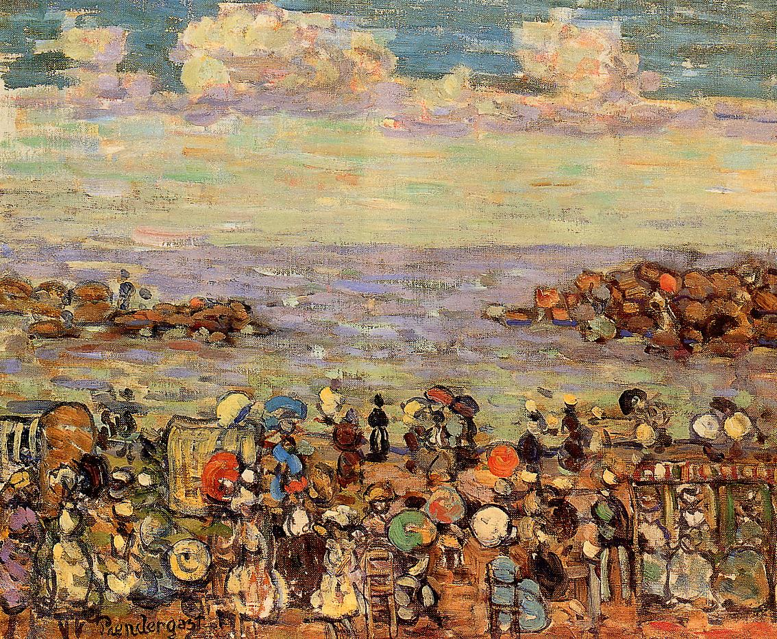Beach at St. Malo 1907 | Maurice Predergast | oil painting