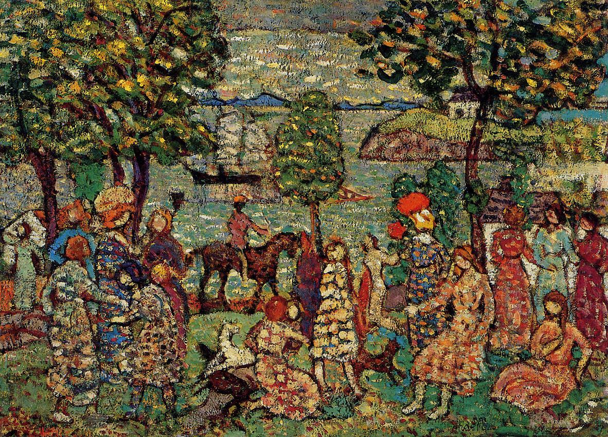 Fantasy2 1914-1915 | Maurice Predergast | oil painting