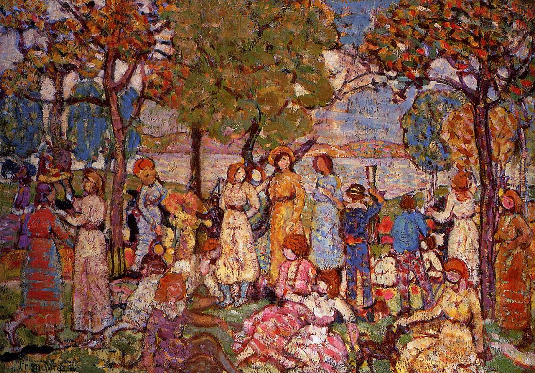 Holidays 1915-1918 | Maurice Predergast | oil painting