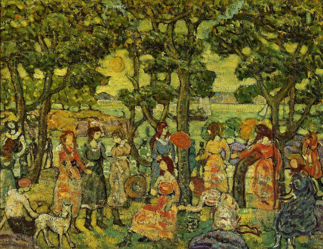 Landscape with Figures 1921 | Maurice Predergast | oil painting