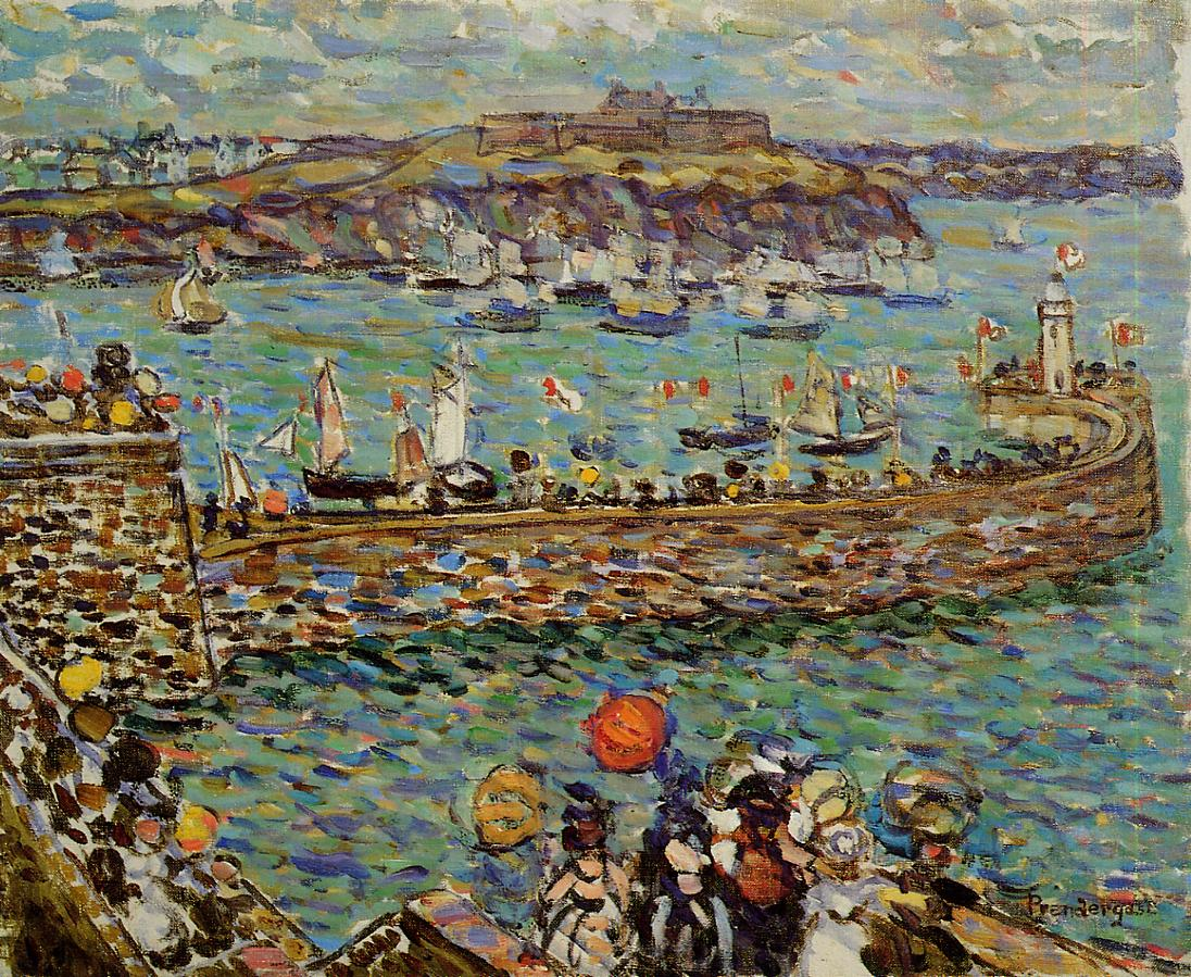 Lighthouse at St. Malo 1907 | Maurice Predergast | oil painting