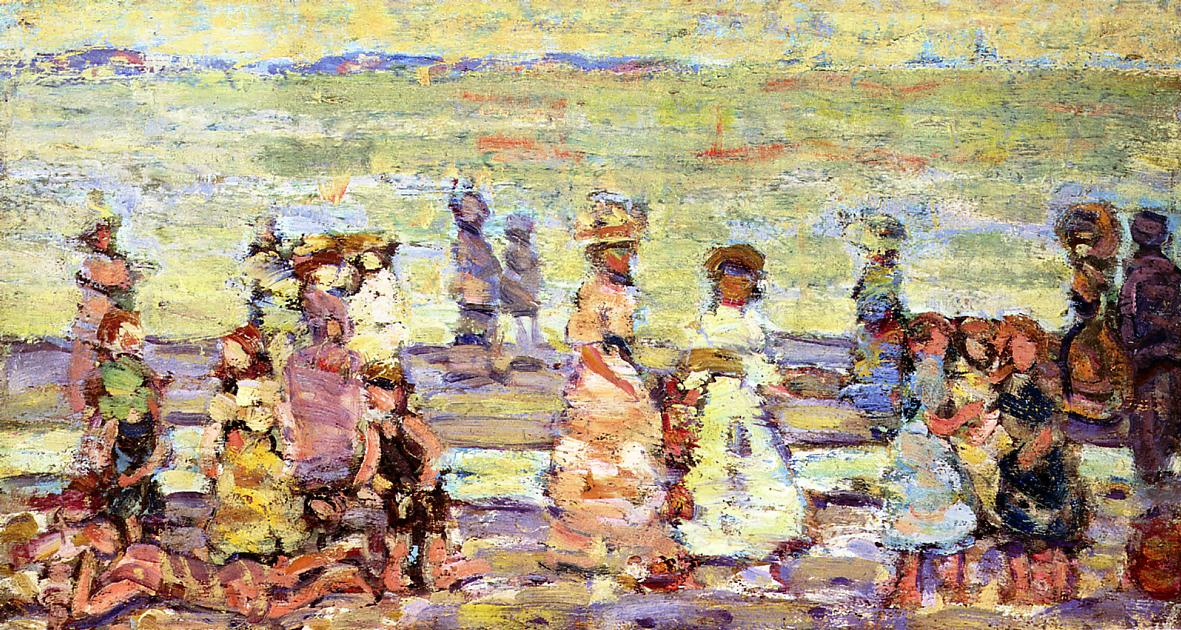 Maine Beach 1910-1913 | Maurice Predergast | oil painting