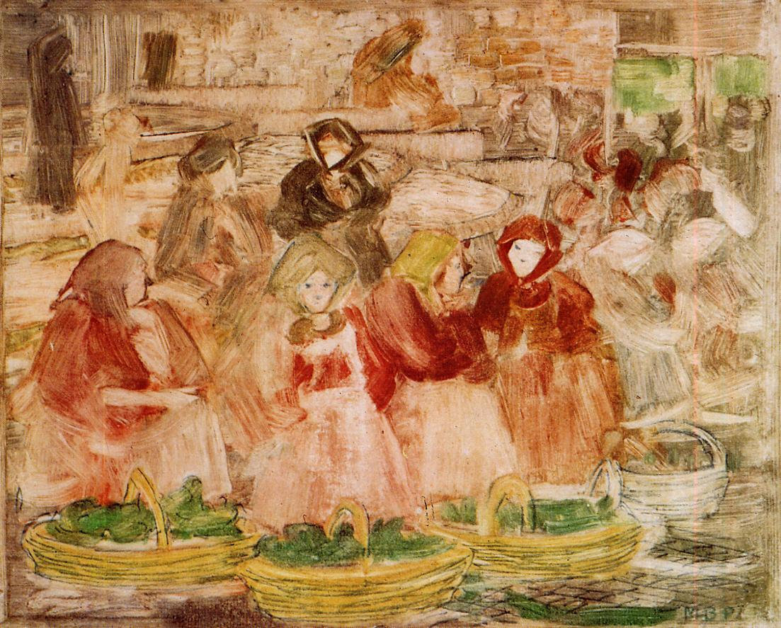 Market Scene 1898-1899 | Maurice Predergast | oil painting