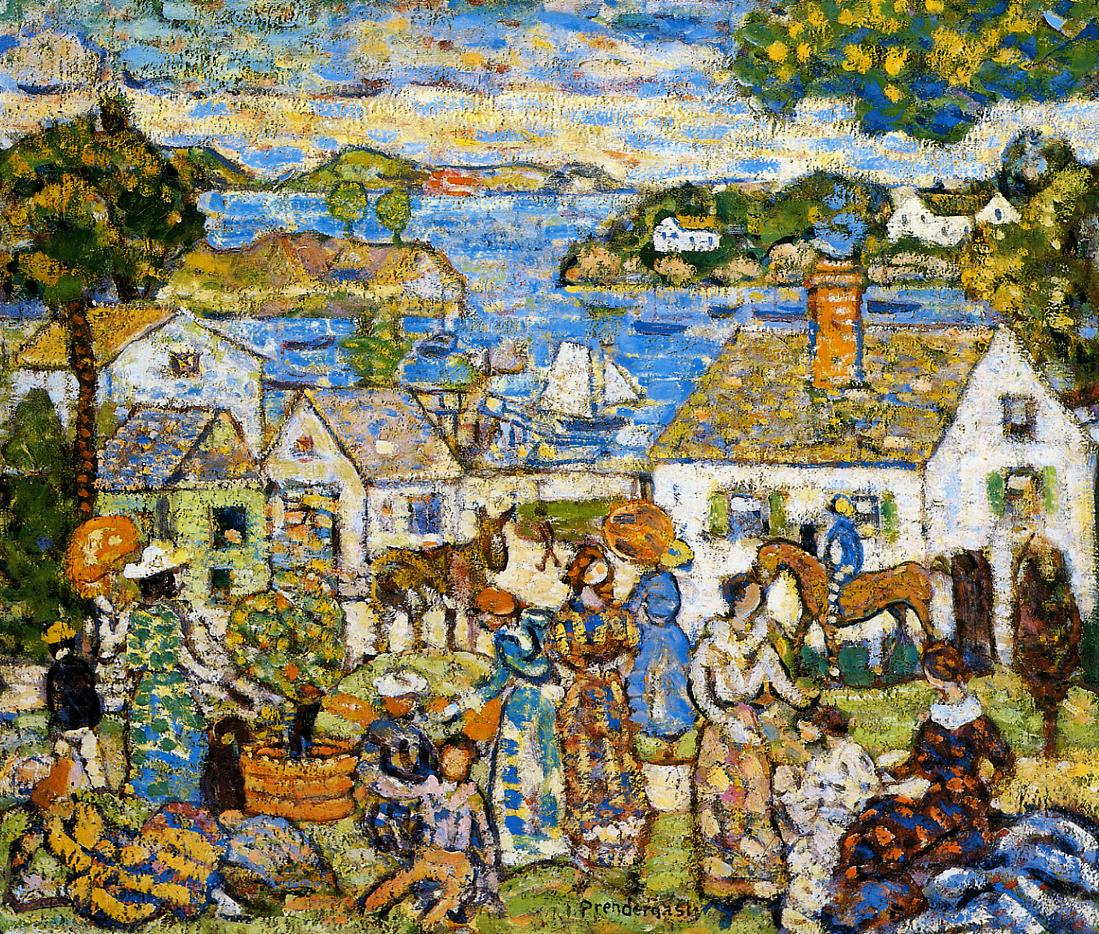 New England Harbor 1919-1923 | Maurice Predergast | oil painting