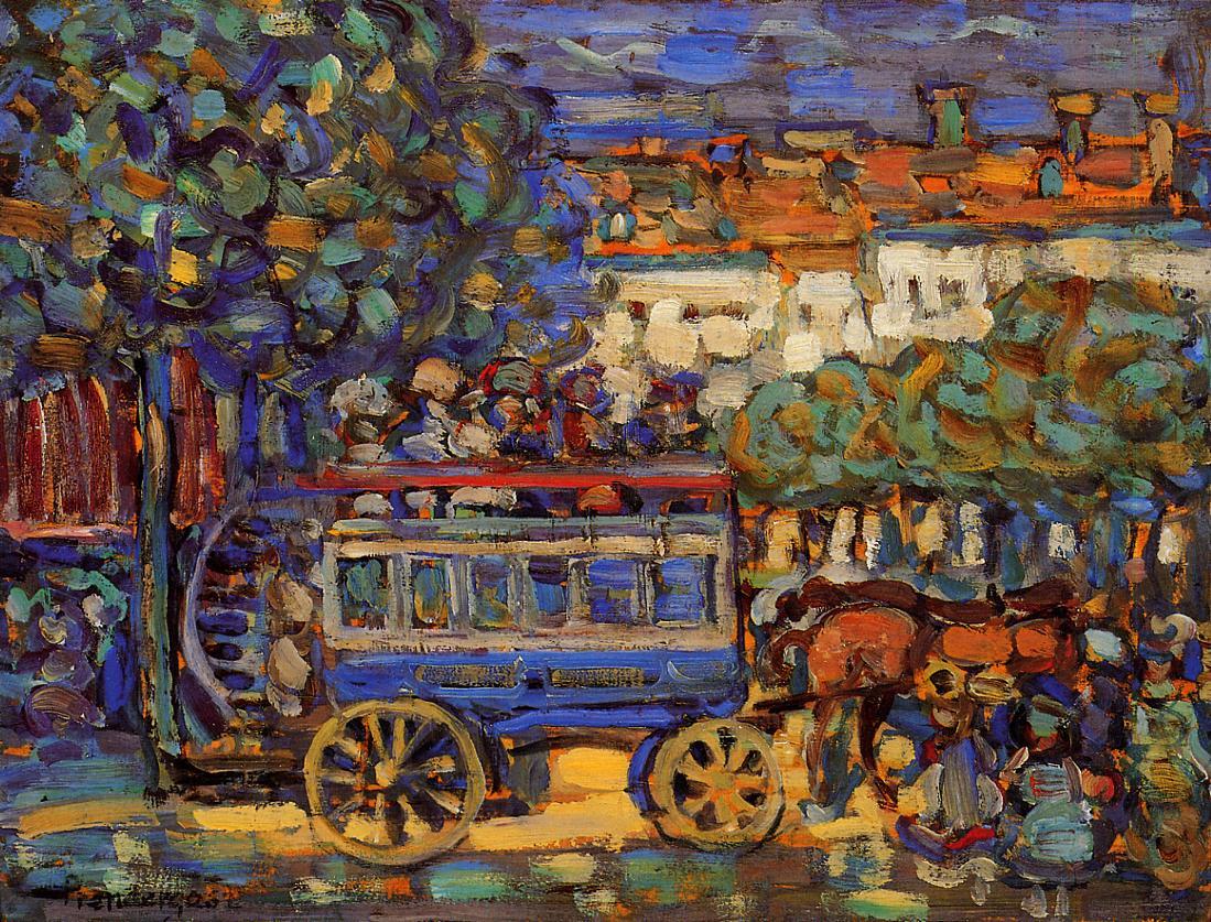 Paris Omnibus 1907 | Maurice Predergast | oil painting