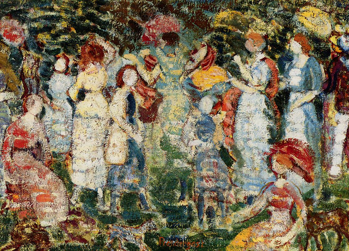 Picnic Grove 1918 | Maurice Predergast | oil painting