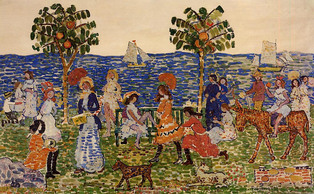Promenade 1914-1915 | Maurice Predergast | oil painting
