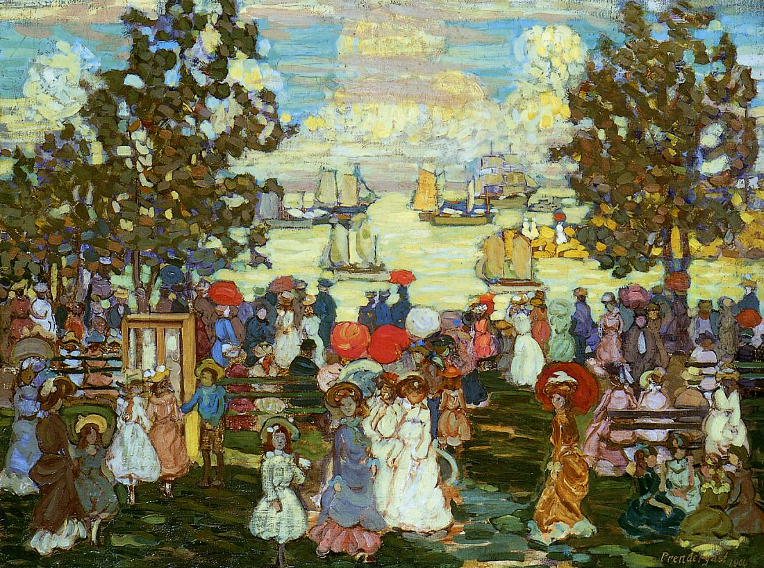 Salem Willows 1904 | Maurice Predergast | oil painting