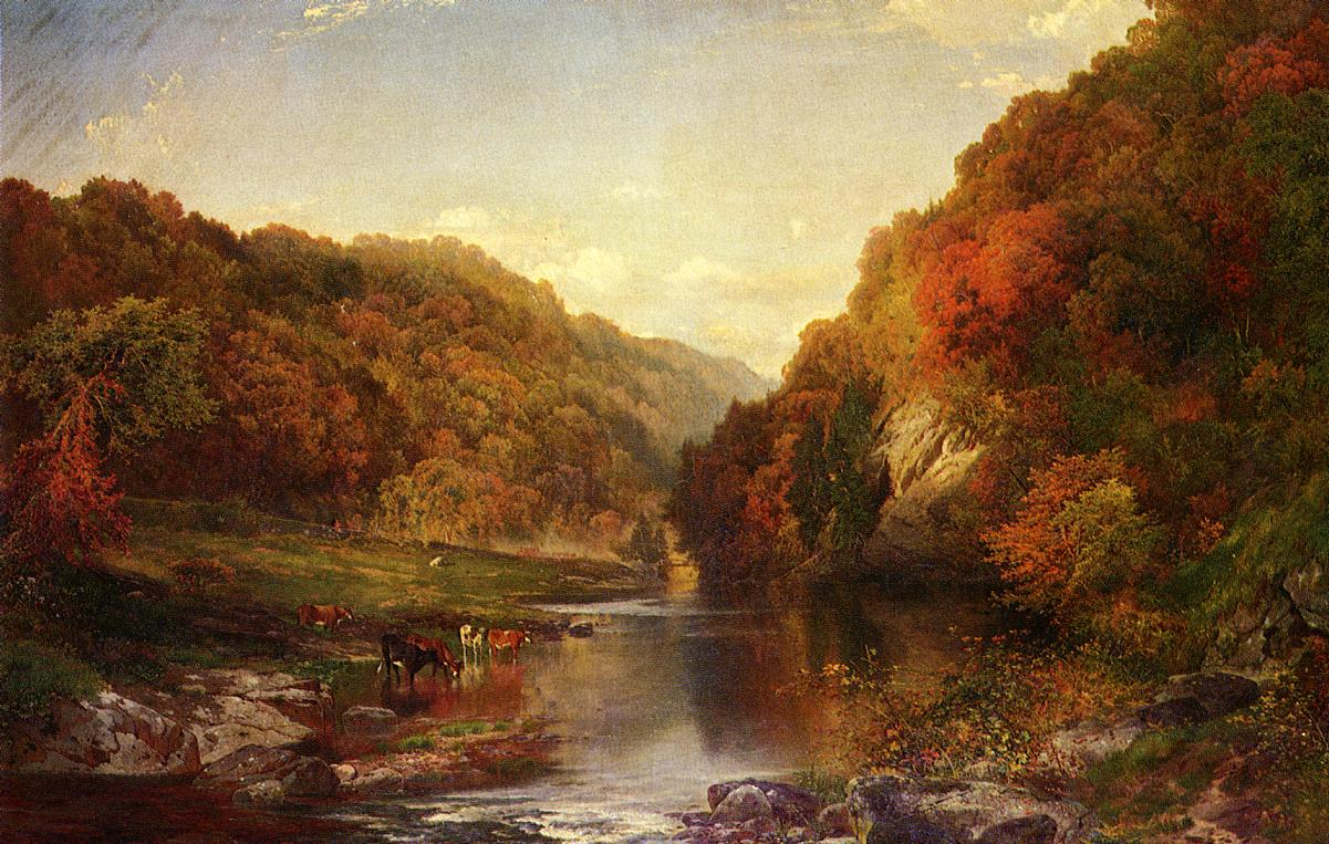 Autumn on the Wissahickon 1864 | Thomas Moran | oil painting