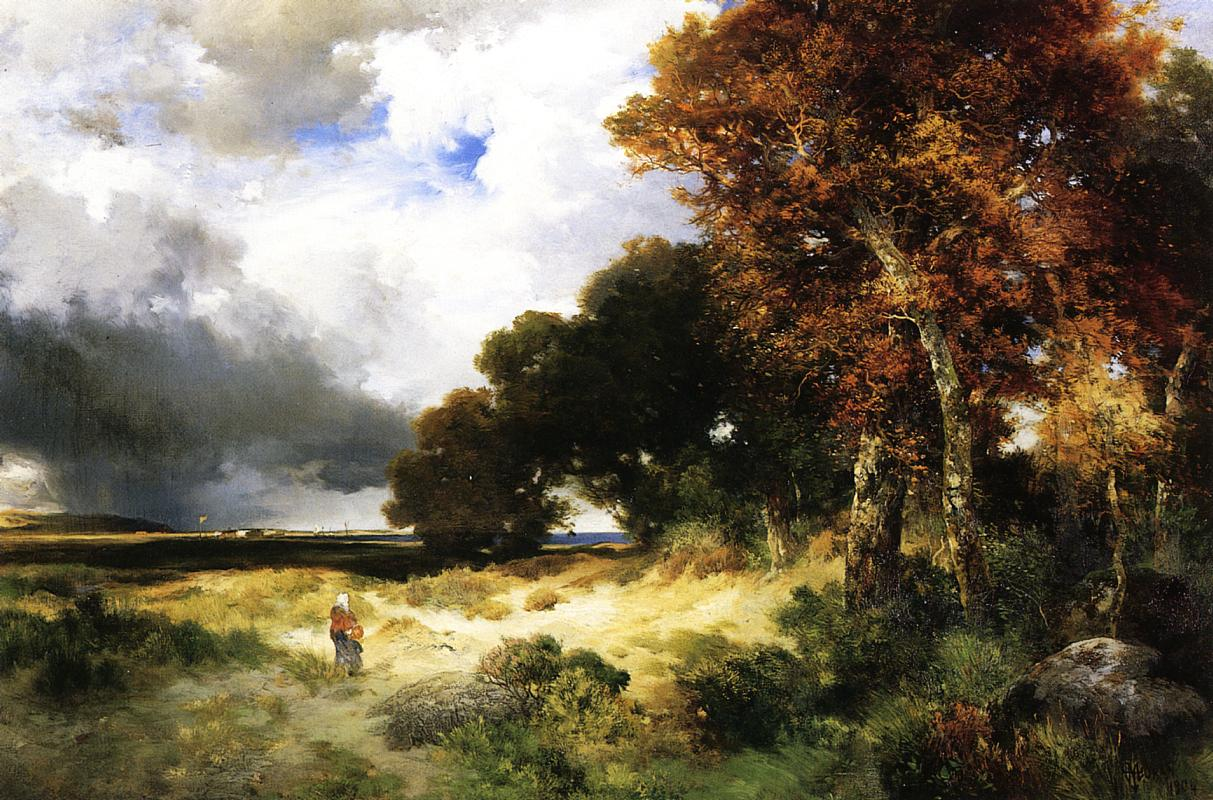 Autumn Peconic Bay Long Island 1904 | Thomas Moran | oil painting