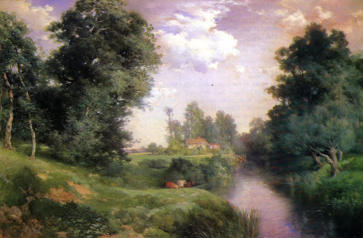 A Long Island River 1908 | Thomas Moran | oil painting