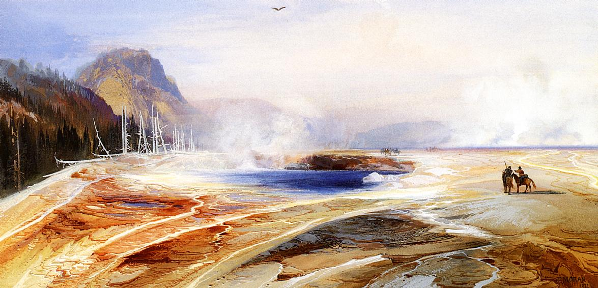 Big Springs in Yellowstone Park 1872 | Thomas Moran | oil painting
