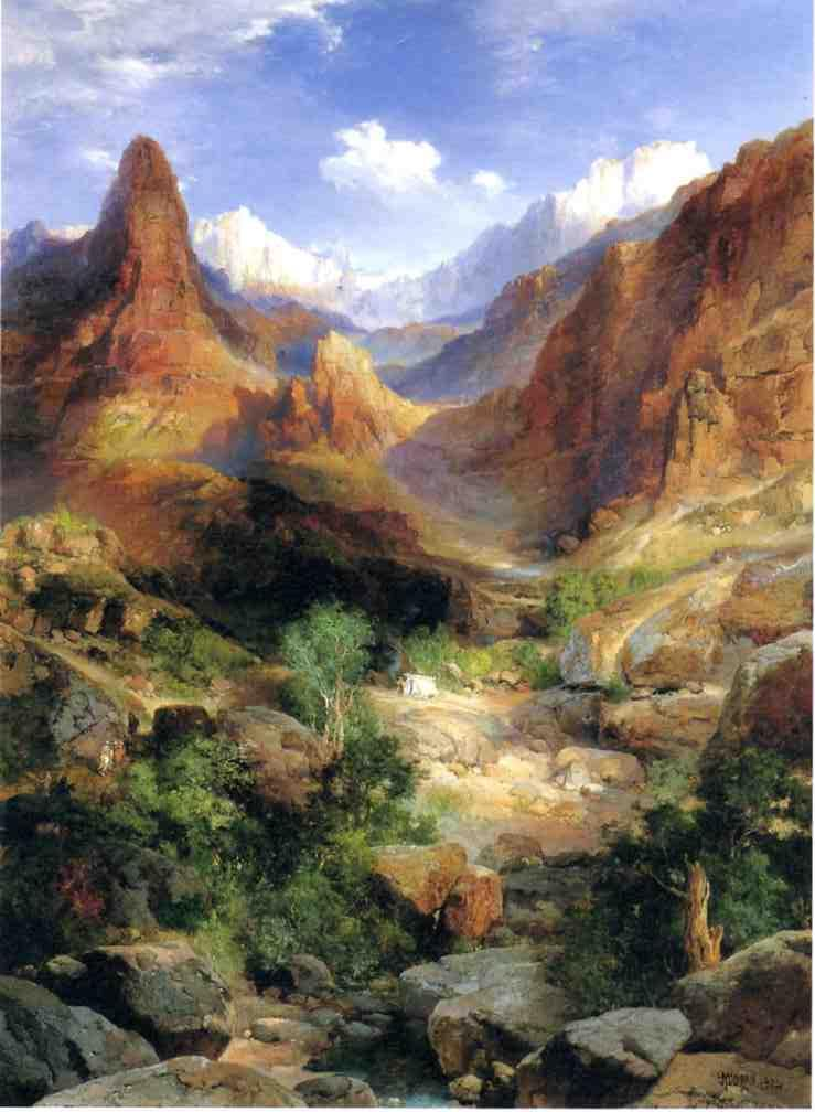 Bright Angel Trail 1904 | Thomas Moran | oil painting