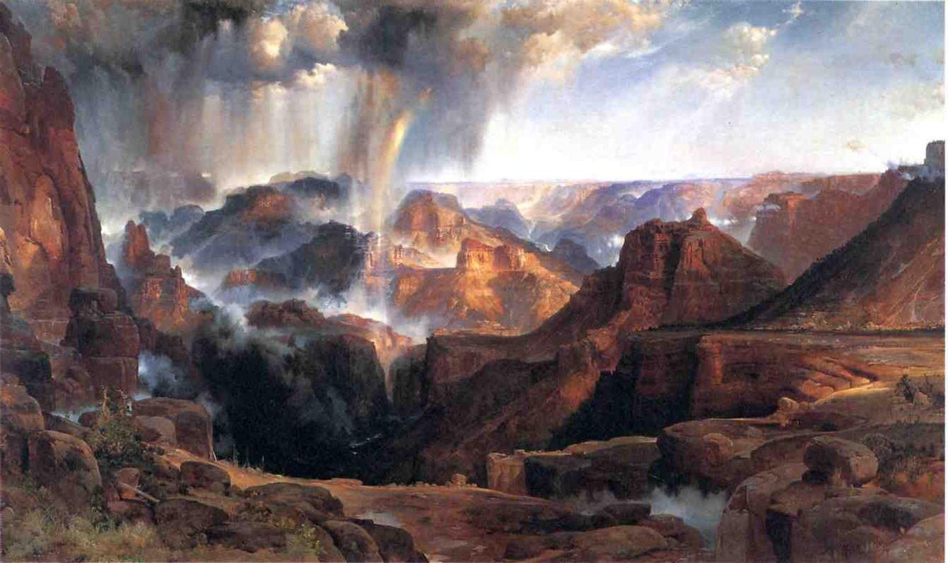 Chasm of the Colorado 1873-1874 | Thomas Moran | oil painting