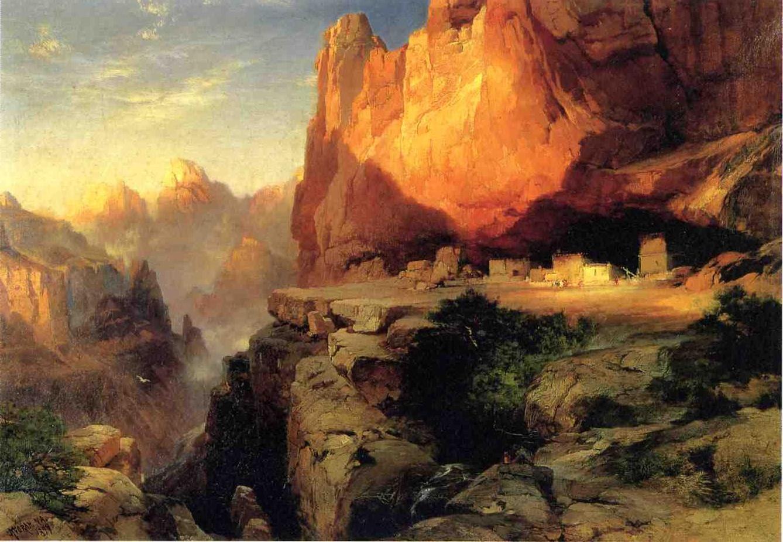 Cliff Dwellers 1894 | Thomas Moran | oil painting