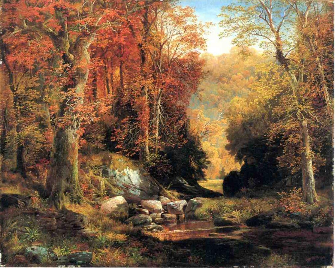 Cresheim Glen Wissahickon Autumn 1864   Thomas Moran   oil painting