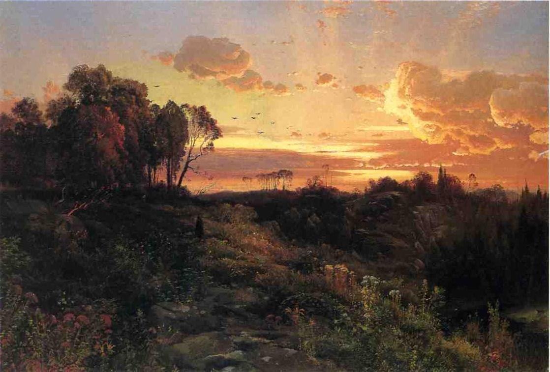 Dusk Wings 1860   Thomas Moran   oil painting
