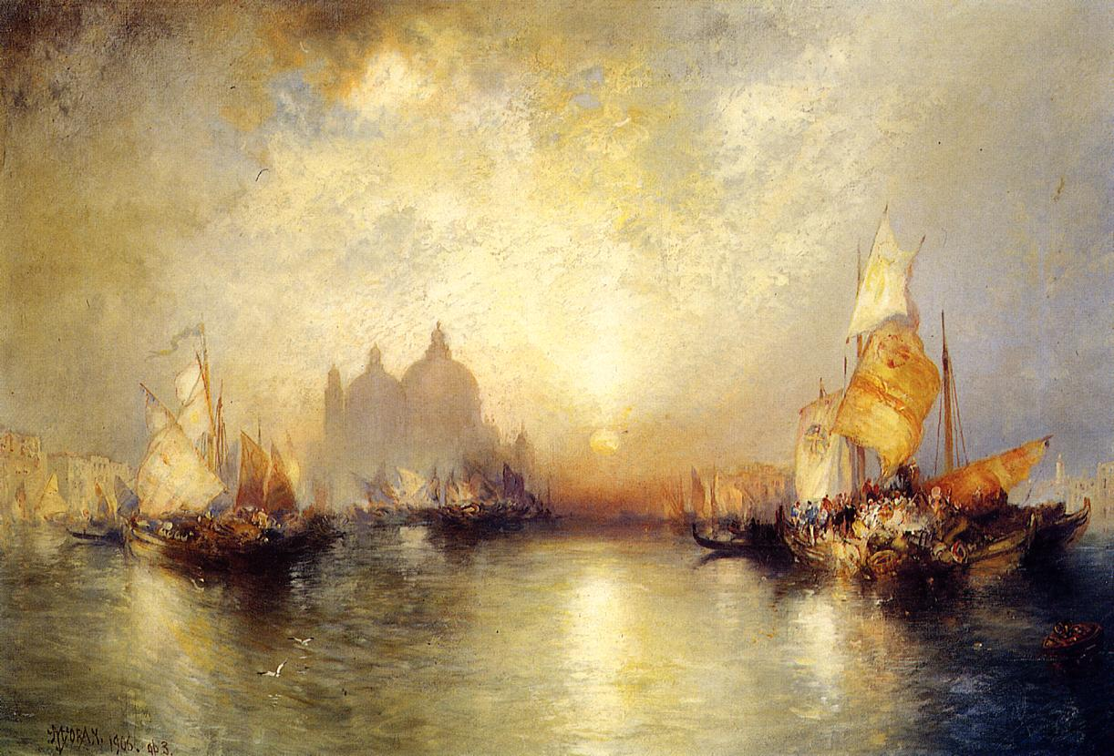 Entrance to the Grand Canal Venice 1906 | Thomas Moran | oil painting