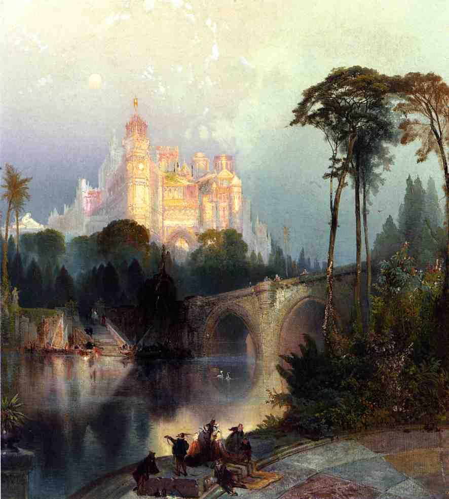 Fantastic Landscape   Thomas Moran   oil painting