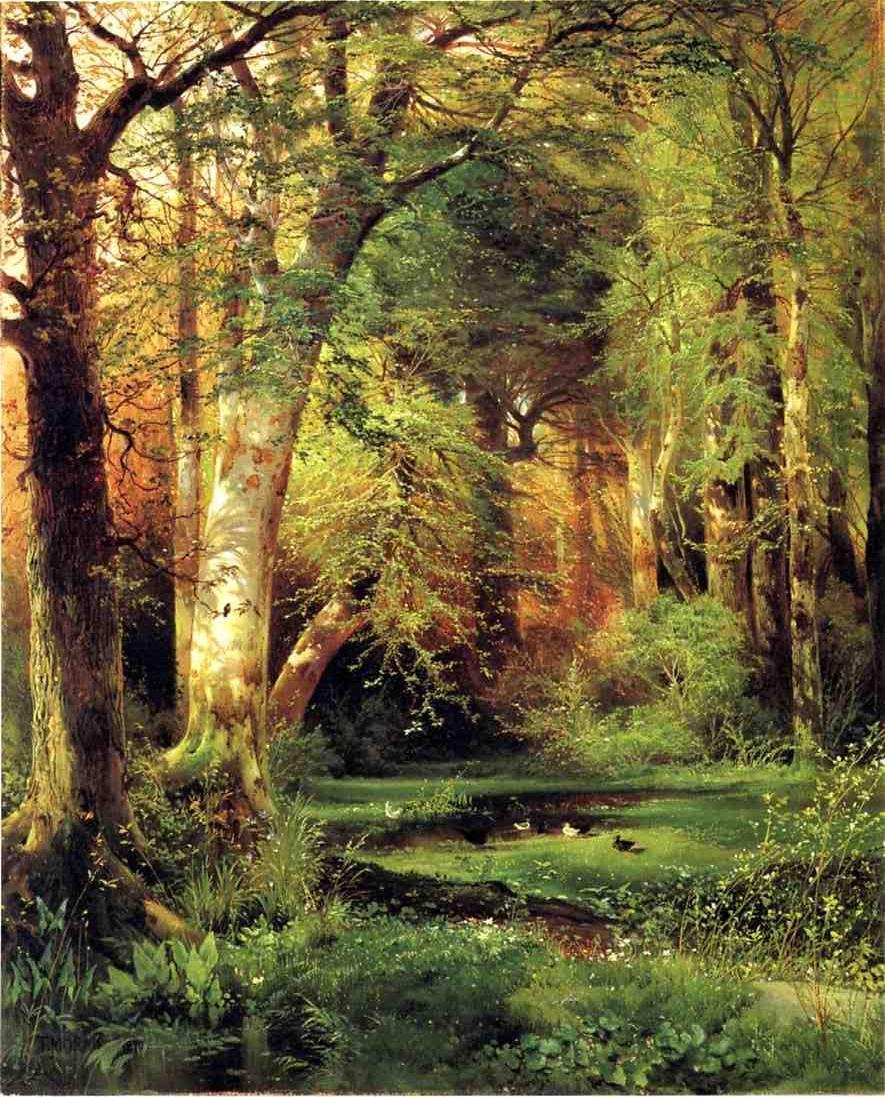 Forest Scene 1870 | Thomas Moran | oil painting