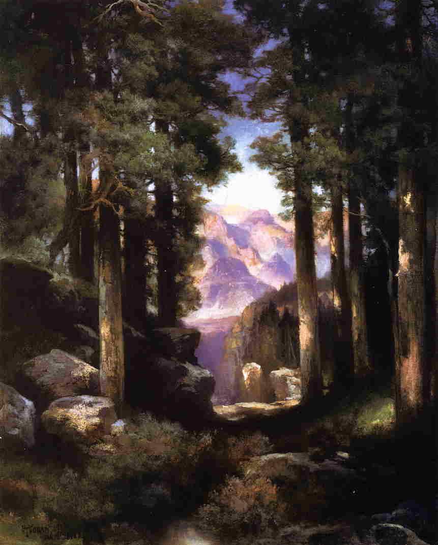Grand Canyon of the Colorado 1922   Thomas Moran   oil painting