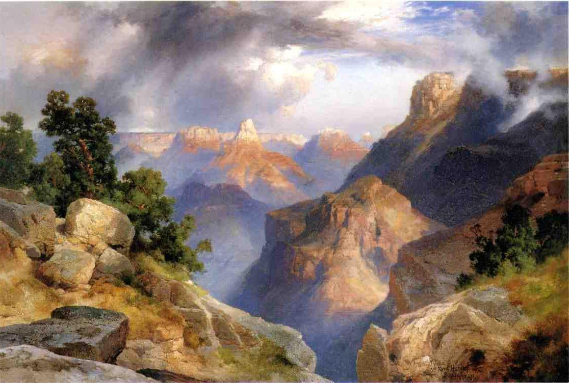 Grand Canyon 1912   Thomas Moran   oil painting
