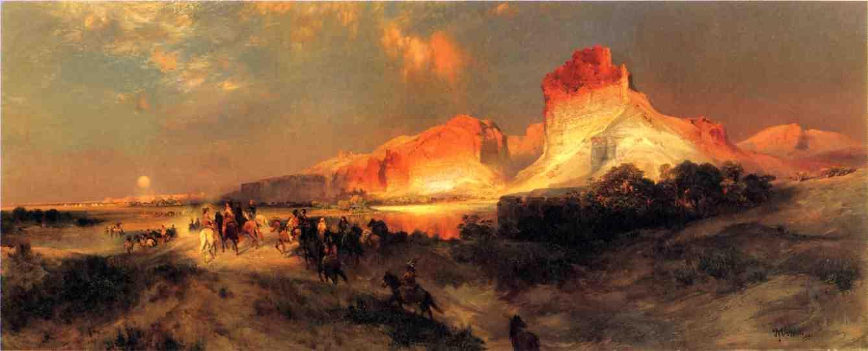 Green River Cliffs Wyoming 1881   Thomas Moran   oil painting