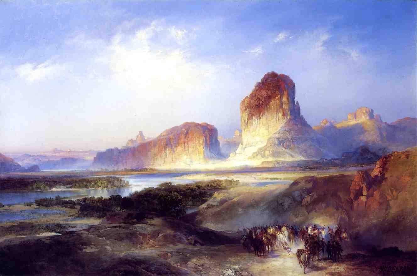 Green River Wyoming 1896   Thomas Moran   oil painting