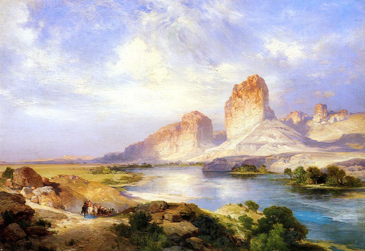 Green River Wyoming 1907   Thomas Moran   oil painting
