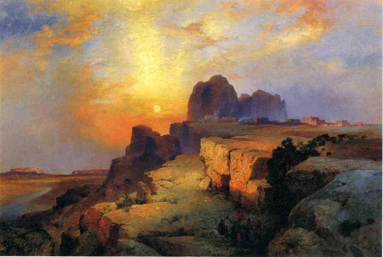 Hopi Museum Arizona 1916   Thomas Moran   oil painting