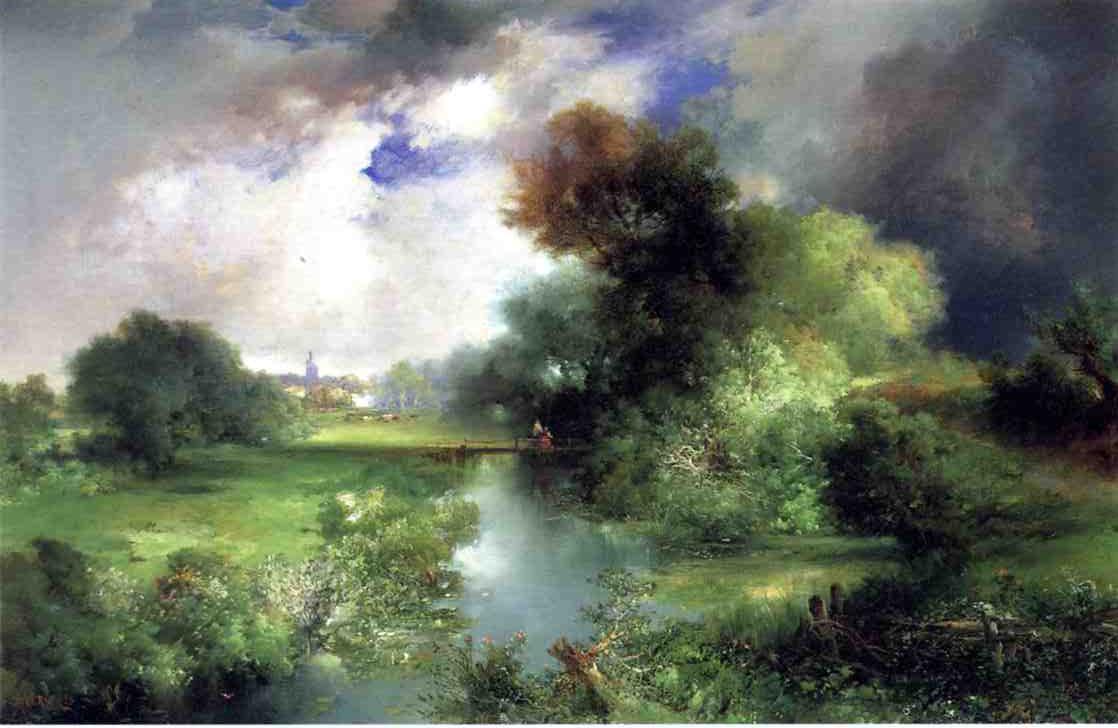 June East Hampton 1895   Thomas Moran   oil painting