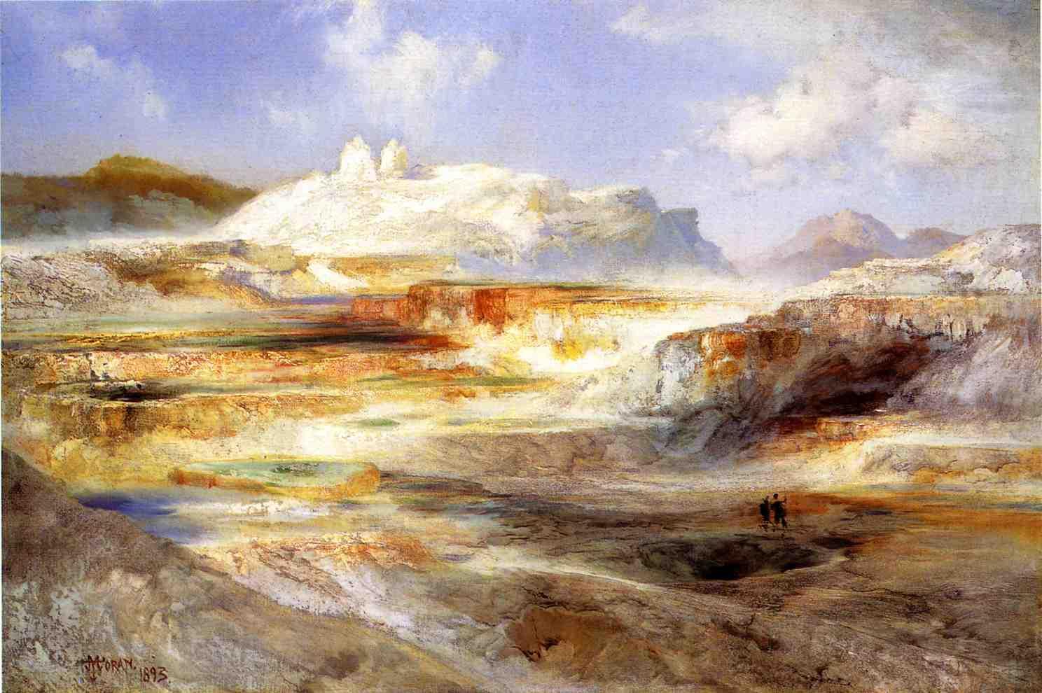 Jupiter Terrace Yellowstone 1893   Thomas Moran   oil painting