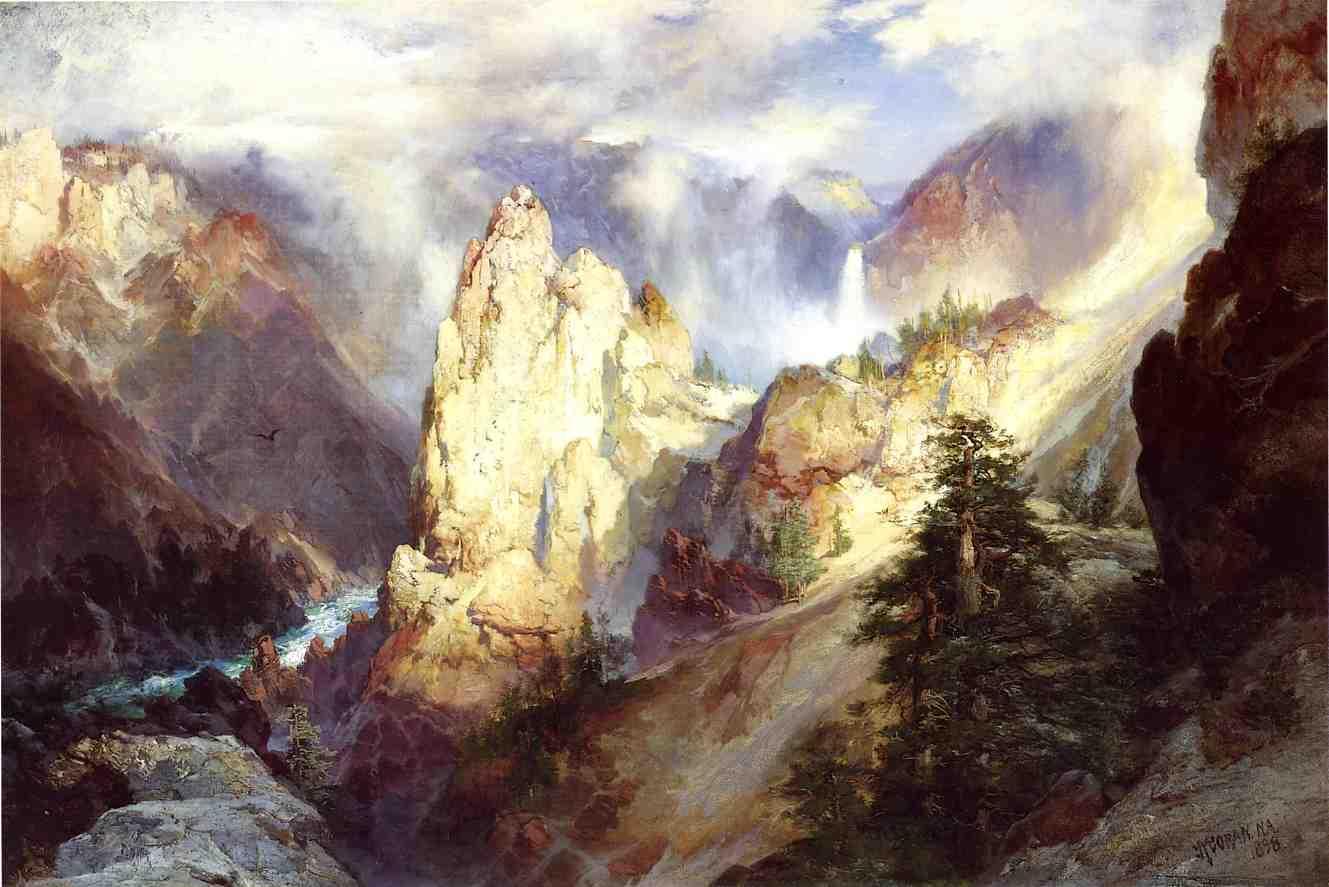 Landscape 1898   Thomas Moran   oil painting