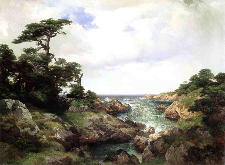 Monterey Coast 1912   Thomas Moran   oil painting