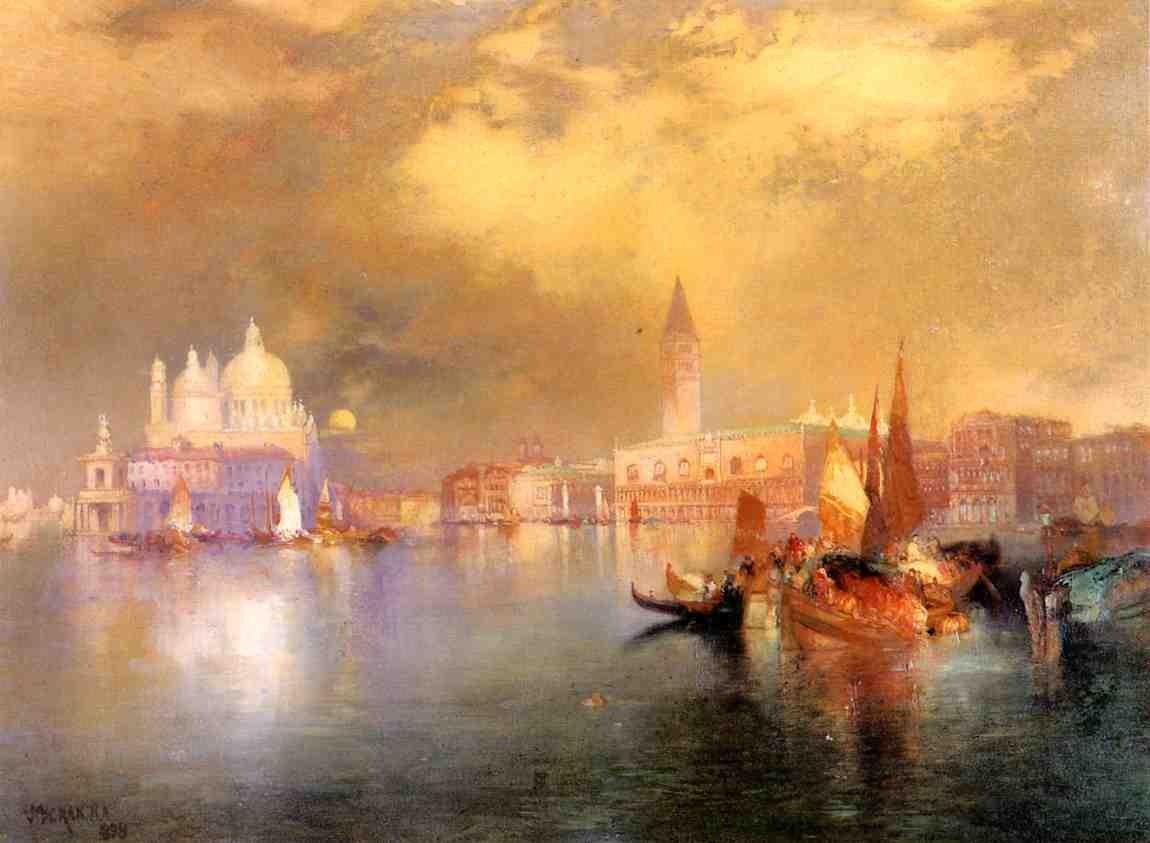 Moonlight in Venice 1898   Thomas Moran   oil painting