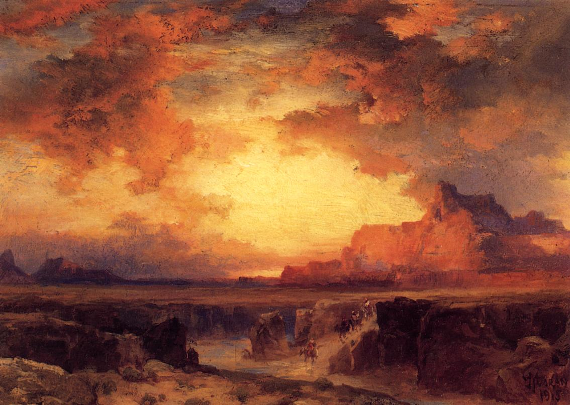 Near Fort Wingate New Mexico 1915   Thomas Moran   oil painting