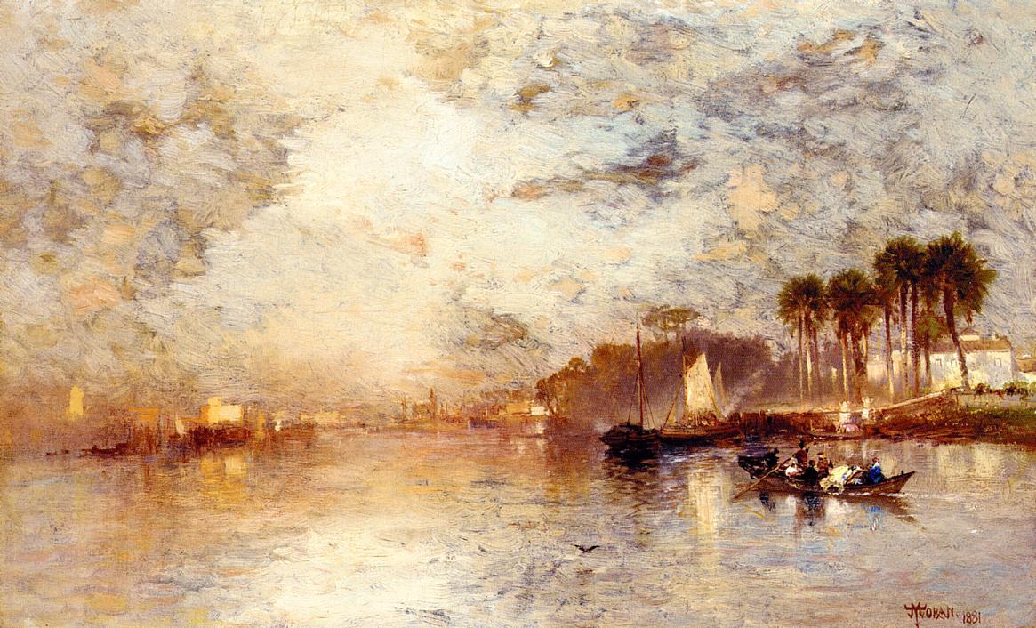 On the St. John's River Florida 1881   Thomas Moran   oil painting