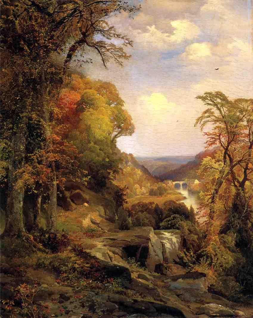 On the Wissahickon near Chestnut Hill 1870   Thomas Moran   oil painting