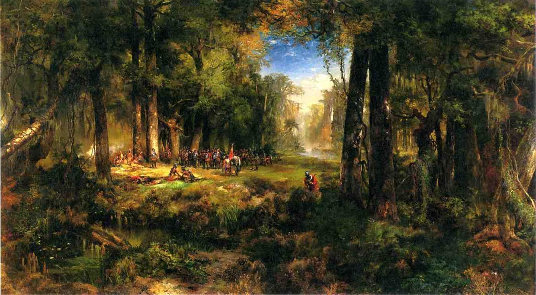 Ponce de Leon in Florida 1878   Thomas Moran   oil painting
