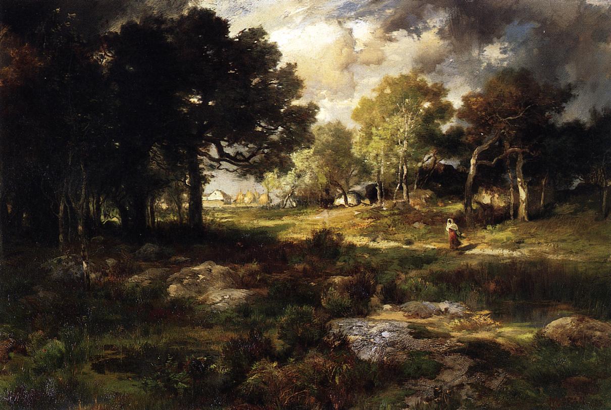 Romantic Landscape 1885   Thomas Moran   oil painting