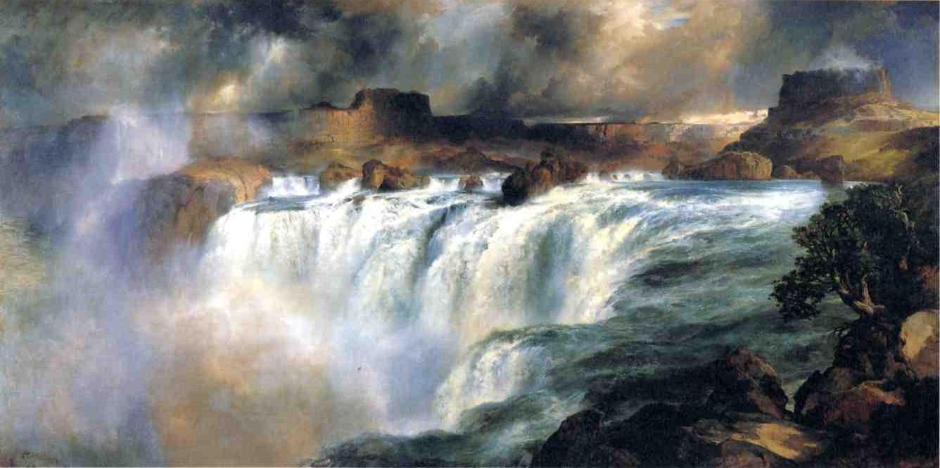 Shoshone Falls on the Snake River 1900   Thomas Moran   oil painting