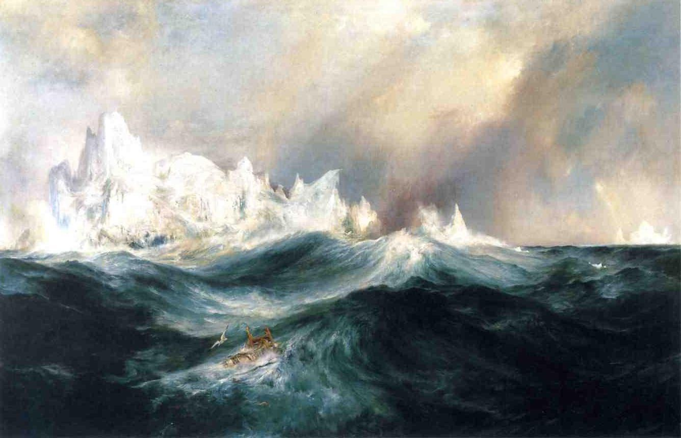 Spectres from the North 1891   Thomas Moran   oil painting