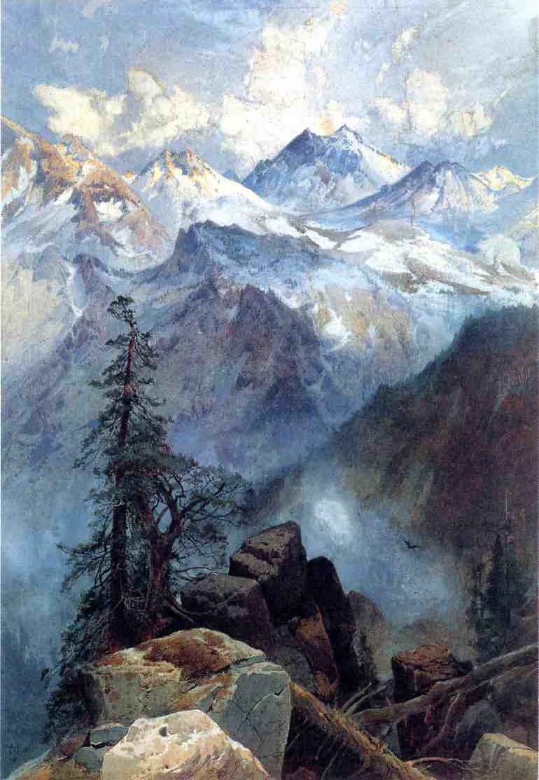 Summit of the Sierras 1875   Thomas Moran   oil painting