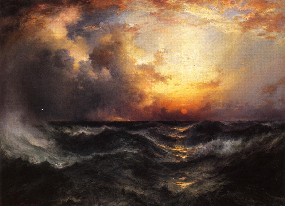 Sunset in Mid-Ocean 1904 | Thomas Moran | oil painting