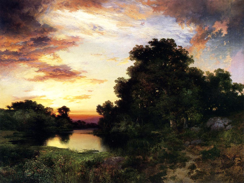 Sunset on Long Island 1901   Thomas Moran   oil painting